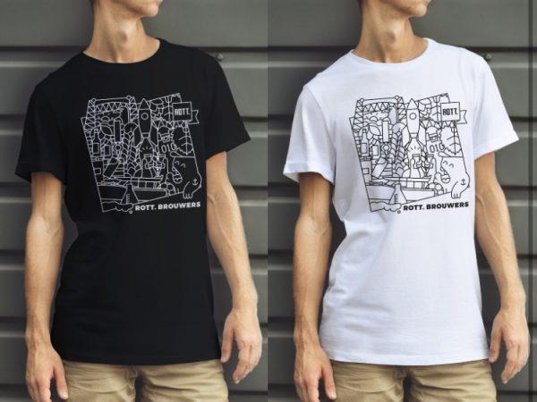 T-shirts zwart en wit - ROTT. Brouwers